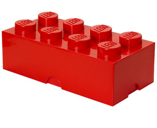 Brique de rangement lego rouge 8 tenons 5000463 lego shop - Brique rangement lego ...