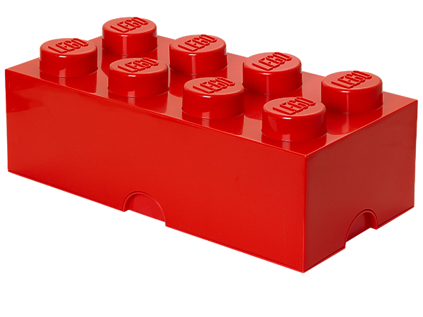 Create life-sized LEGO® furniture to store your bricks, minifigures and more with the stackable, 8-stud LEGO Storage Brick!