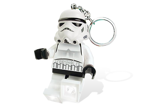 Light a path through the galaxy with an oversized Stormtrooper minifigure featuring 2 LED lights with push-button activation!
