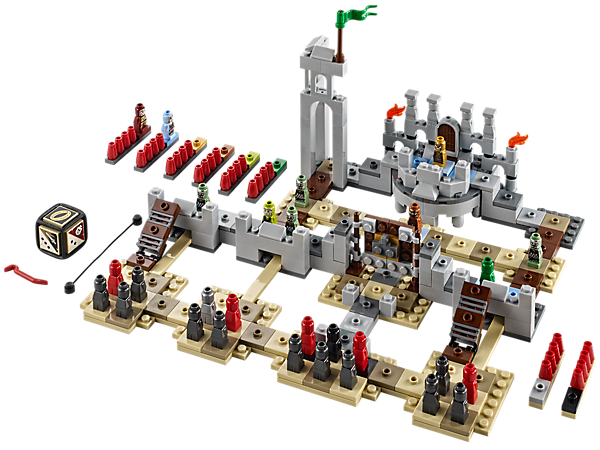 Fight of the Rohirrim™ and Uruk-hai™ forces at Helm's Deep™ with LEGO® Games The Lord of the Rings™ with 28 microfigures, mission map and more!