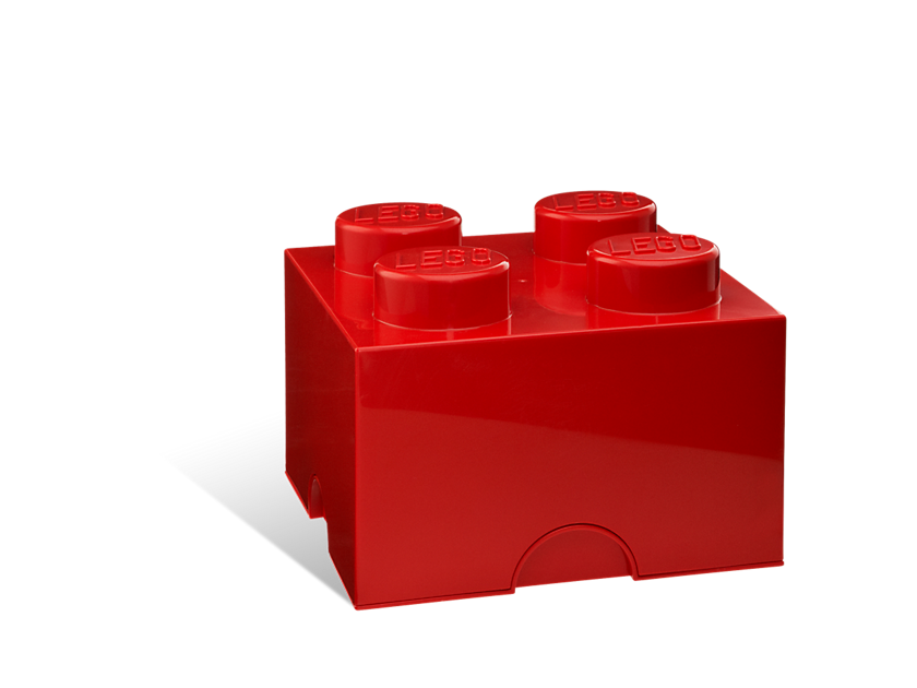 Lego® 4 - stud Red Storage Brick