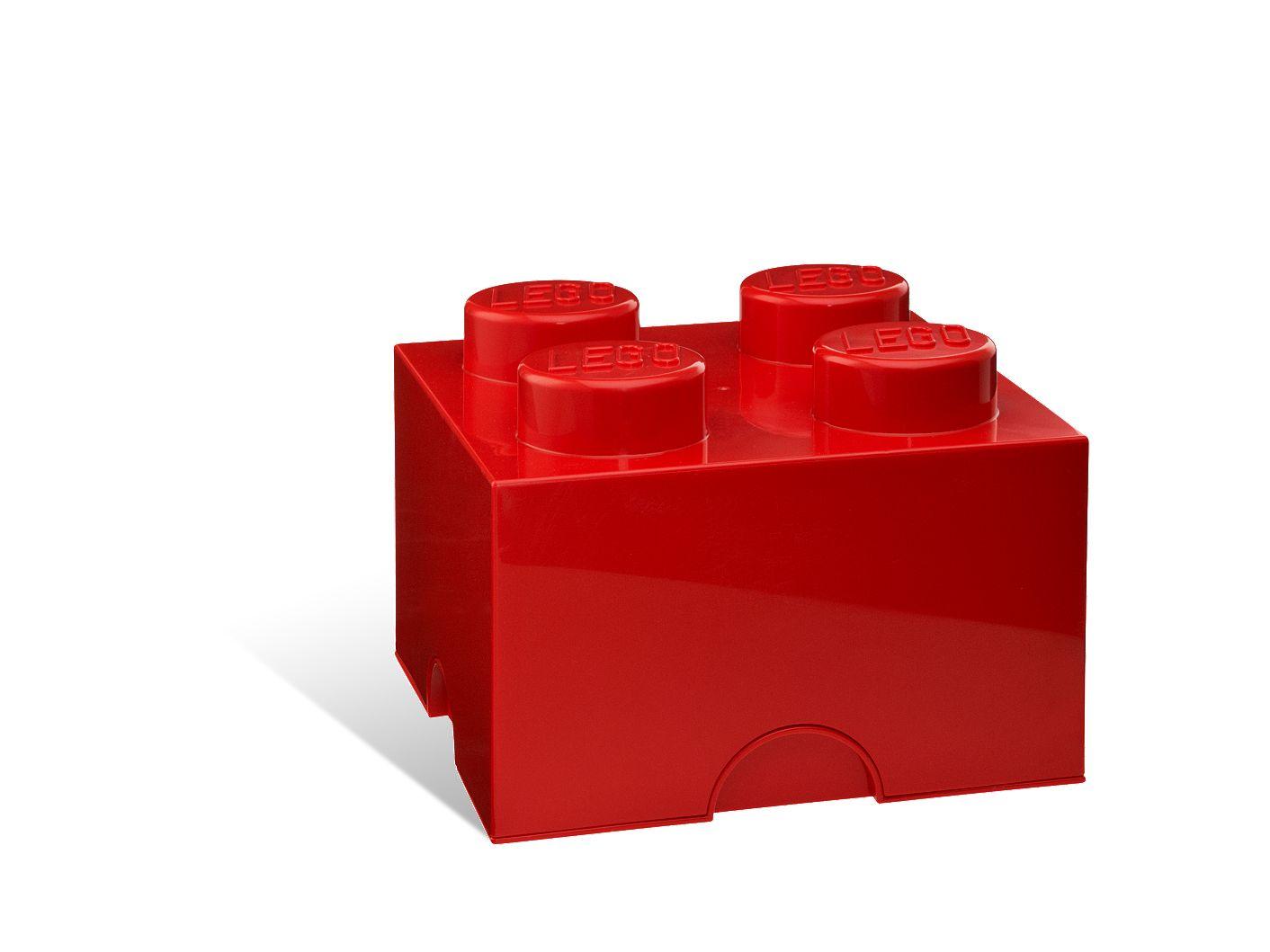 Brique de rangement LEGO® rouge 4 tenons