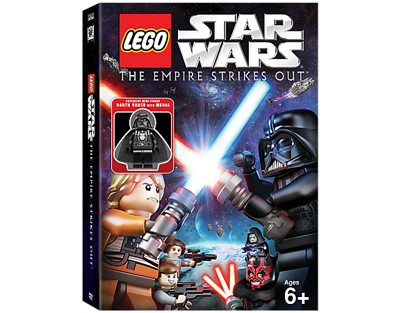 <p>Collect the animated adventure LEGO® <i>Star Wars</i>™: The Empire Strikes Out on DVD, featuring an exclusive Darth Vader™ minifigure!</p>