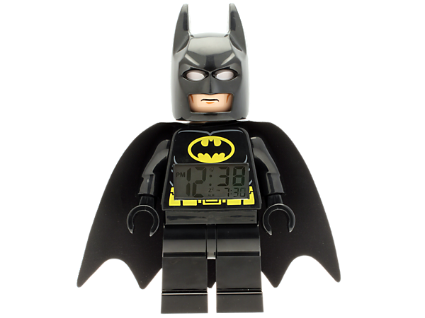 Wake up on Gotham City time with a heroic-sized LEGO® DC Universe Super Heroes Batman™ Minifigure Clock with an alarm!