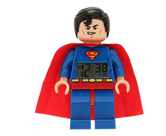 lego dc comics super heroes superman minifigure clock. Black Bedroom Furniture Sets. Home Design Ideas