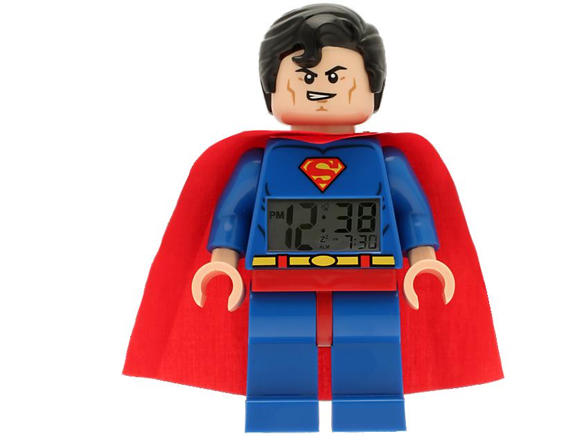 Lego� Dc Comics Super Heroes Superman Minifigure Clock
