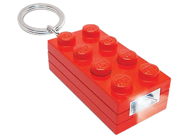 Lead the way to building adventure with the super-bright, red LEGO® 2x4 LED Brick Key Light, featuring momentary switch!