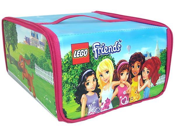Travel with the LEGO® Friends and tote your favorite builds anywhere with a zipping Toy Box and Heartlake City playmat!