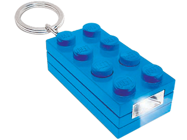 Lead the way to building adventure with the super-bright, blue LEGO® 2x4 LED Brick Key Light, featuring momentary switch!