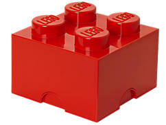 LEGO® 4-stud Red Storage Brick