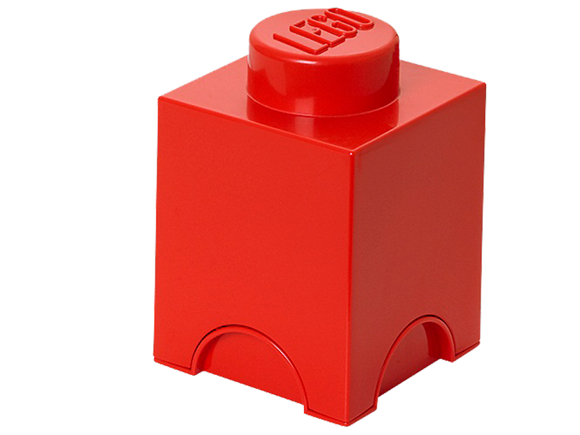 Lego® 1 - stud Red Storage Brick