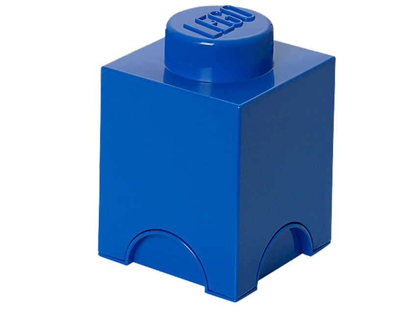 Lego® 1 - stud Blue Storage Brick