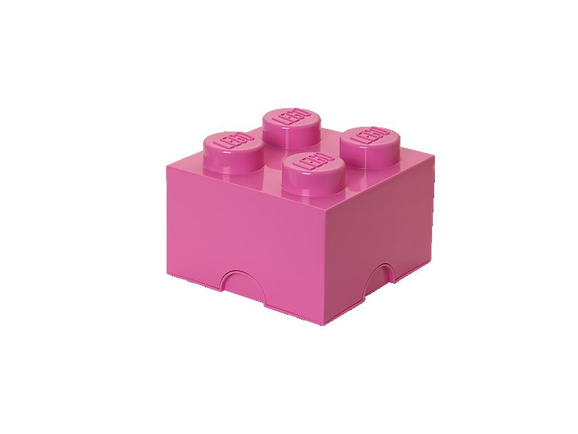 LEGO 4 Stud Pink Storage Brick