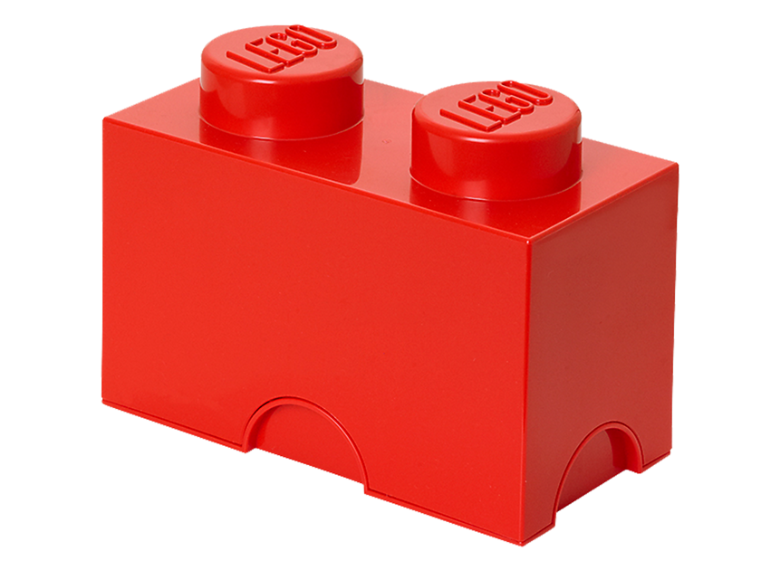 Lego® 2 - stud Red Storage Brick