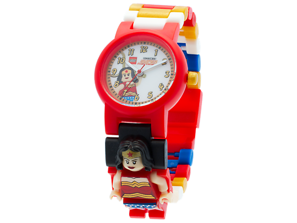 <p>Keep perfect time with this Wonder Woman analog quartz watch featuring a buildable, adjustable strap with a sculpted Wonder Woman minifigure.</p>