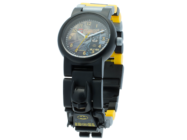 It's always time to fight crime when you;re wearing the LEGO® Batman™ Minifigure Link Watch!