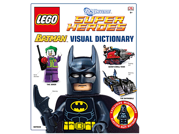 Learn everything about LEGO® Batman™ with this full-color, 96-page LEGO Batman Visual Dictionary. Includes a Batman™ minifigure.