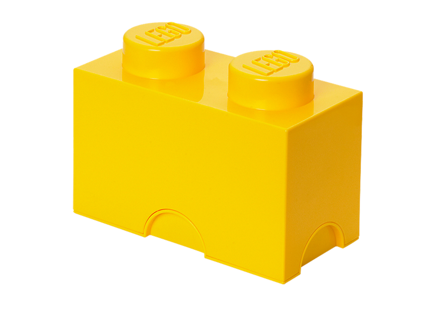 Lego® 2 - stud Yellow Storage Brick