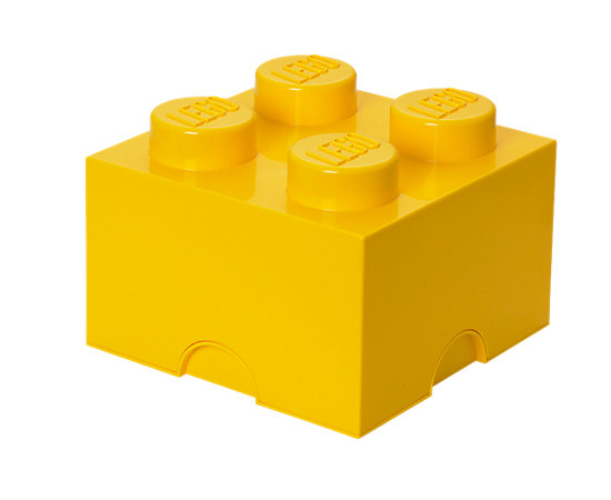 LEGO® 4 Stud Yellow Storage Brick