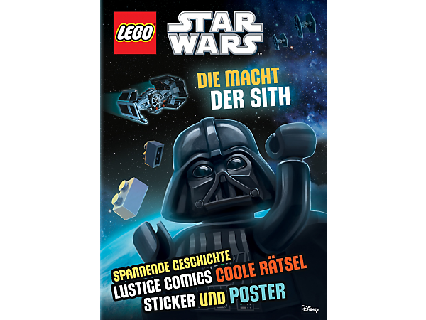 Experience the fun side with this 32-page, softcover LEGO® Star Wars™ Activity Book: The Power of the Sith, featuring exciting stories, quizzes, foldout poster and sticker set.