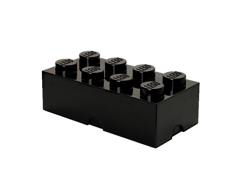 LEGO 8-stud Black Storage Brick