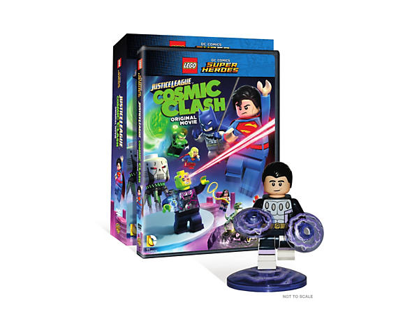 Get set for a Justice League™ vs. Brainiac Cosmic Clash in this original LEGO® DC Comics Super Heroes movie on DVD with limited edition Cosmic Boy minifigure.