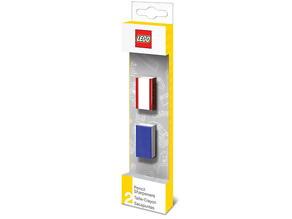 Keep your pencils sharp at home, school or the office with this pack of two LEGO® Pencil Sharpeners featuring LEGO plates to allow brick-building customization.