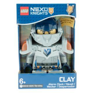 Réveil LEGO® NEXO KNIGHTS™ avec figurine de Clay