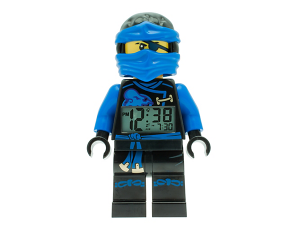 Get up for ninja battles with this Sky Pirates Jay Minifigure Alarm Clock featuring a posable jumbo-sized minifigure, LCD display, plus snooze and backlight functions.