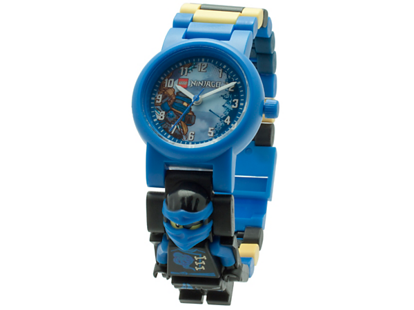 <p>Time your ninja attacks on the sky pirates with this analog quartz watch featuring a buildable strap with multicolored, interchangeable links and a sculpted Jay minifigure.</p>