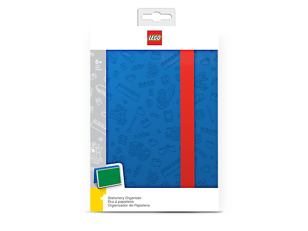 Store all your writing and drawing tools in this LEGO® Stationery Organizer, featuring a plastic box with textured cover, removable baseplate and an elastic strap.