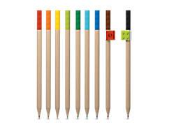 Ensemble de 9 crayons de couleur avec accessoires