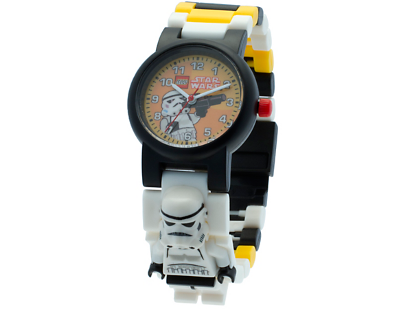 <p>Keep a timely Stormtrooper on hand with this analog quartz watch featuring a buildable strap with multicolored, interchangeable links and a sculpted Stormtrooper minifigure.</p>