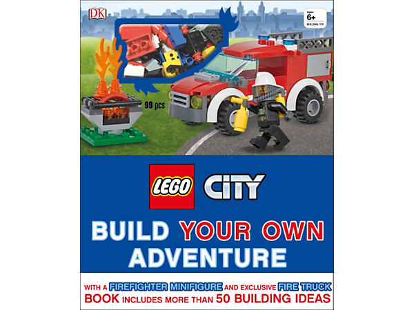 Create new and exciting LEGO® City adventures with this 80-page hardcover book crammed with building ideas, plus bricks to build an exclusive fire truck and firefighter.
