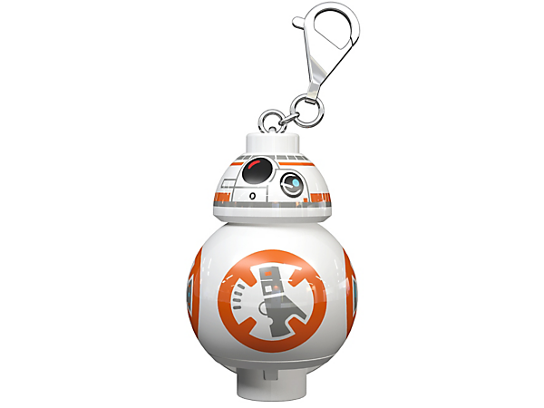 Illuminate the dark with this LEGO® Star Wars BB-8 Key Light, featuring a large droid figure key chain with a bright LED light and an auto shut-off switch.