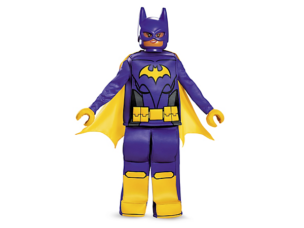 <p>Transform into a super hero with THE LEGO® BATMAN MOVIE Batgirl™ Prestige Costume, featuring minifigure-style tunic top, pants and hands, character mask and a cape.</p>
