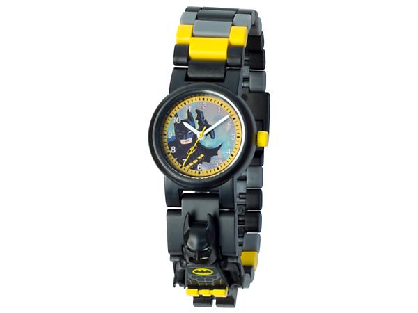 Zu dieser Analog-Quarzuhr gehört ein Armband, das sich aus mehrfarbigen Austauschgliedern und einer Batman™ Minifigur zusammenstecken lässt, damit du den Superhelden jederzeit und überall an deiner Seite hast.