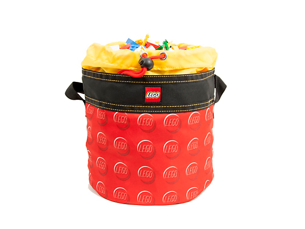 Organize, store and transport your everyday items in the LEGO® Red Cinch Bucket with a cinch closure, durable carry handle and transparent, water-resistant EVA plastic base.