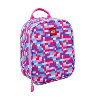 LEGO® Pink/Purple Brick Print Lunch Bag