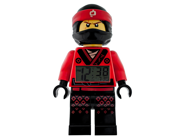 Add ninja style to your bedside with THE LEGO® NINJAGO® MOVIE™ Kai Minifigure Alarm Clock, featuring a posable jumbo-sized minifigure, LCD display, plus snooze and backlight functions.