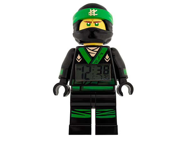 Spring into action every morning with THE LEGO® NINJAGO® MOVIE™ Lloyd Minifigure Alarm Clock, featuring a posable jumbo-sized minifigure, LCD display, plus snooze and backlight functions.