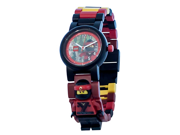 Stay on time with THE LEGO® NINJAGO® MOVIE™ Kai Minifigure Link Watch, featuring a buildable strap with multicolored, interchangeable links and a sculpted Kai minifigure.