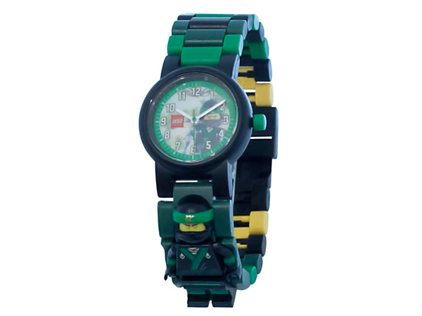 Always be on time for action with THE LEGO® NINJAGO® MOVIE™ Lloyd Minifigure Link Watch, featuring a buildable strap with multicolored, interchangeable links and a sculpted Lloyd minifigure.