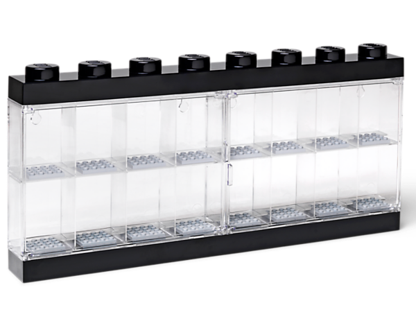 Exhibit, carry and store your minifigures in this smart LEGO® Minifigure Display Case, complete with transparent clasp door and 16 compartments.
