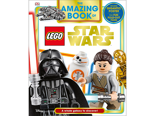 Introduce children to an epic galaxy of heroes, villains, vehicles and locations with The Amazing Book of LEGO® Star Wars, featuring 48 full-color pages with foldouts and pullout poster.