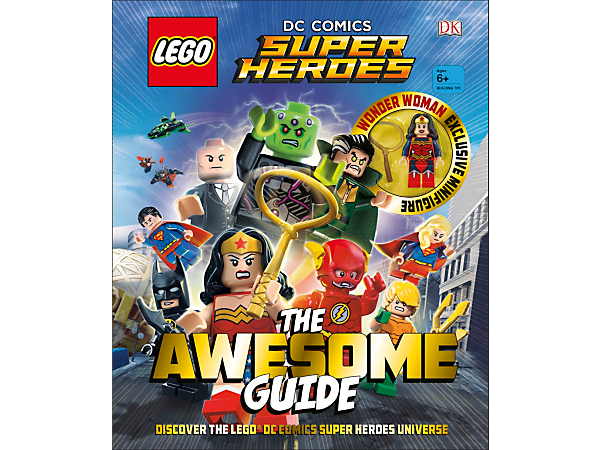 Read all about your favorite Super Heroes and Super-Villains in the 96-page, full-color LEGO® DC Comics Super Heroes The Awesome Guide and collect an exclusive Wonder Woman™ minifigure.