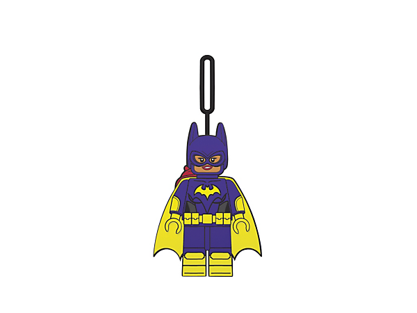 Let Batgirl™ look after your stuff with THE LEGO® BATMAN MOVIE Batgirl™ Luggage Tag, featuring an easy-to-use loop to attach to your baggage.
