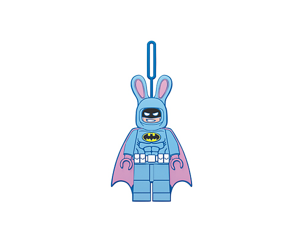 Travel in fun and festive style with THE LEGO® BATMAN MOVIE Easter Bunny Batman™ Luggage Tag, featuring an easy-to-use loop to attach to your baggage.