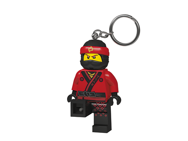 Brighten up every ninja adventure with THE LEGO® NINJAGO® MOVIE™ Kai Key Light, featuring a large, posable minifigure key chain with bright LED lights and an auto shut-off switch.