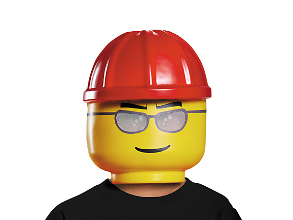 Build away with this fun LEGO® Construction Worker Mask, featuring a visibility mesh and an elastic band with Velcro closure for a perfect fit.